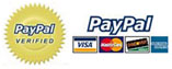 We proudly accept PayPal secure online payments